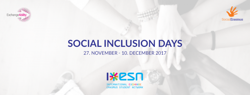 Social Inclusion Days: from 27th of November to 10th of December 2017
