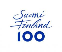 Logotype of Suomi Finland 100 campaign